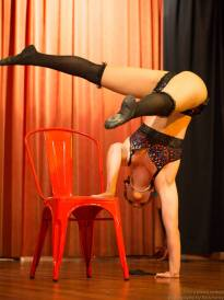 A classic burlesque chair act