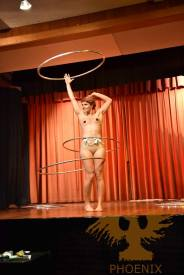Have you ever seen someone hula hoop and strip at the same time??