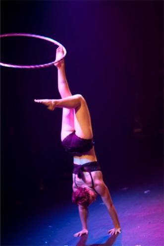 Handstand hula hoop