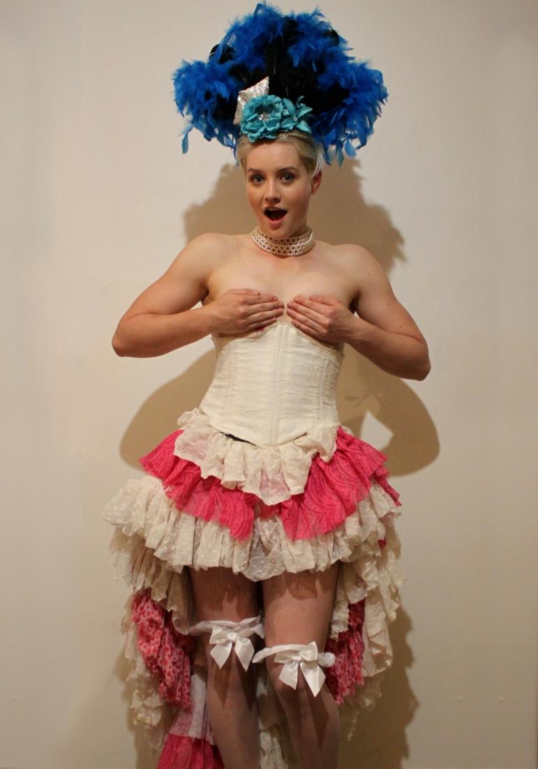 A classic burlesque show girl costume